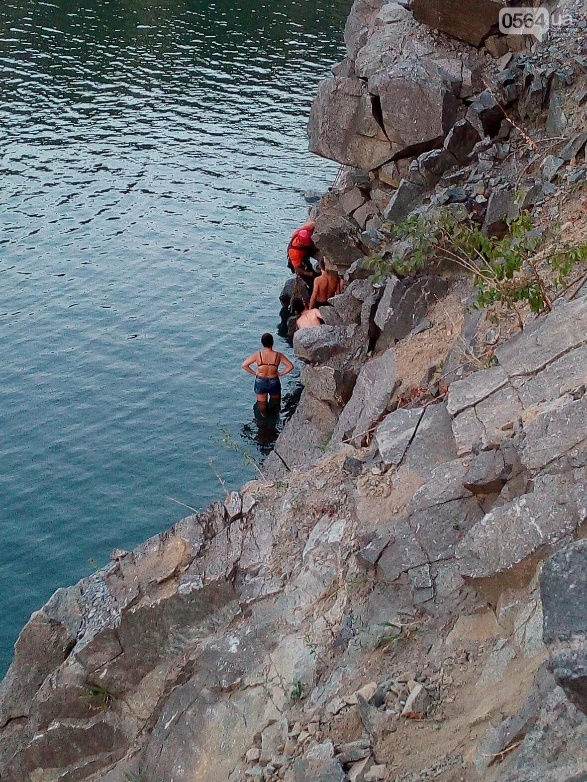 Криворожанин не смог самостоятельно выбраться из затопленного карьера (ФОТО), фото-9