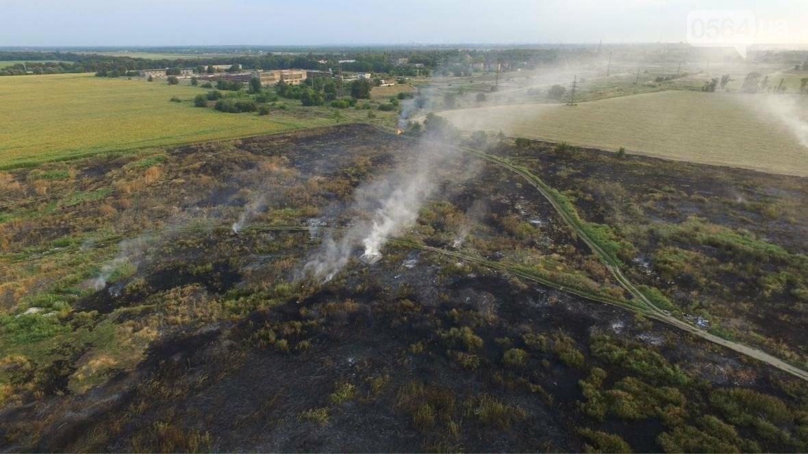 В сети опубликовали шокирующие фото пожаров под Кривым Рогом (ФОТО), фото-11