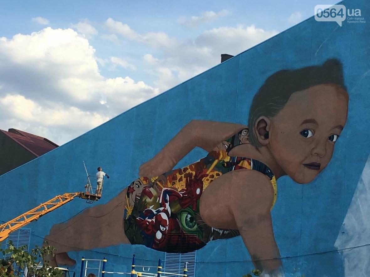 """""""Лысеющий младенец"""": Криворожане шокированы первым муралом в городе  (ФОТО), фото-14"""