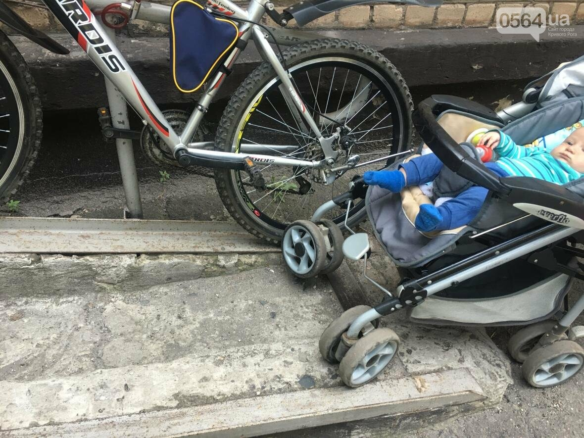"""Криворожский """"блокбастер"""": Как доехать до больницы с ребенком в коляске (ФОТО), фото-13"""