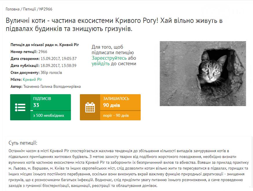 В Кривом Роге собирают подписи, чтобы спасти бездомных котов от верной гибели , фото-1