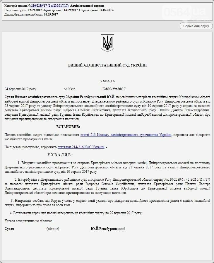 """Высший админсуд открыл кассационное производство по делу криворожских """"депутатов- отзывников"""", фото-1"""