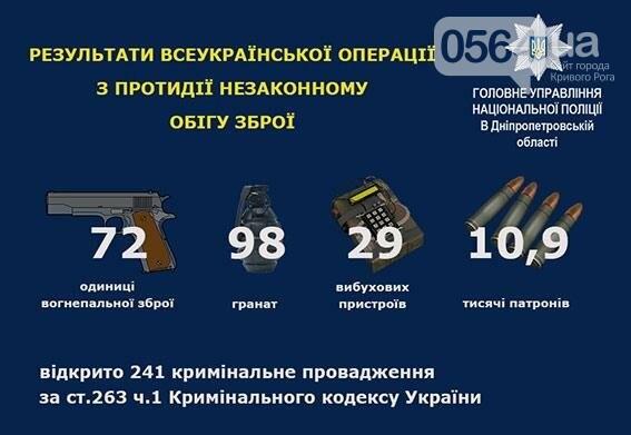 За месяц у криворожан изъяли 14 пистолетов, 2 РПГ и 13 гранат , фото-1