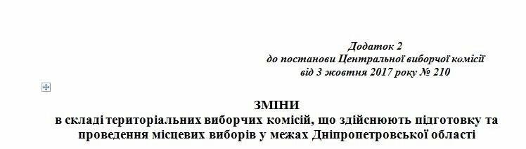 ЦИК поменяла членов Криворожской городской избирательной комиссии, фото-1