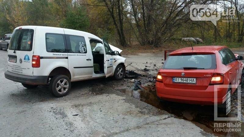 Лоб в лоб: На объездной дороге в Кривом Роге столкнулись иномарки, фото-1