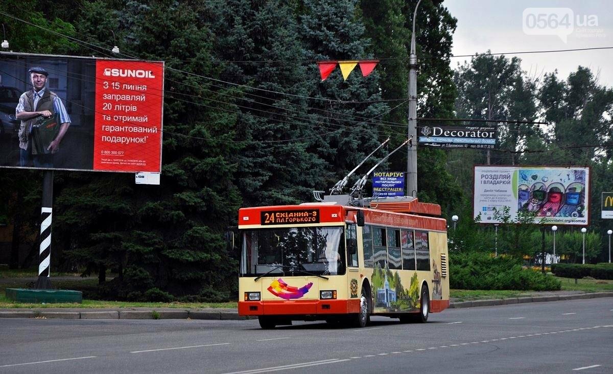 В Кривом Роге на маршруты выехали сразу несколько троллейбусов, фото-2