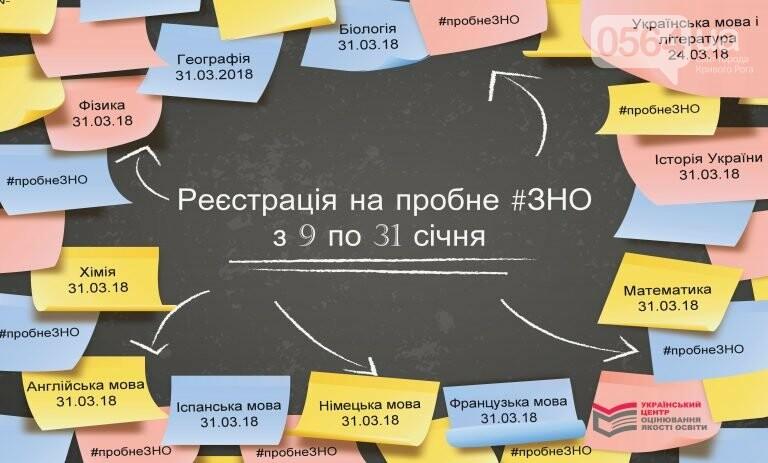 С 9 января криворожские школьники смогут регистрироваться на пробное ВНО , фото-1