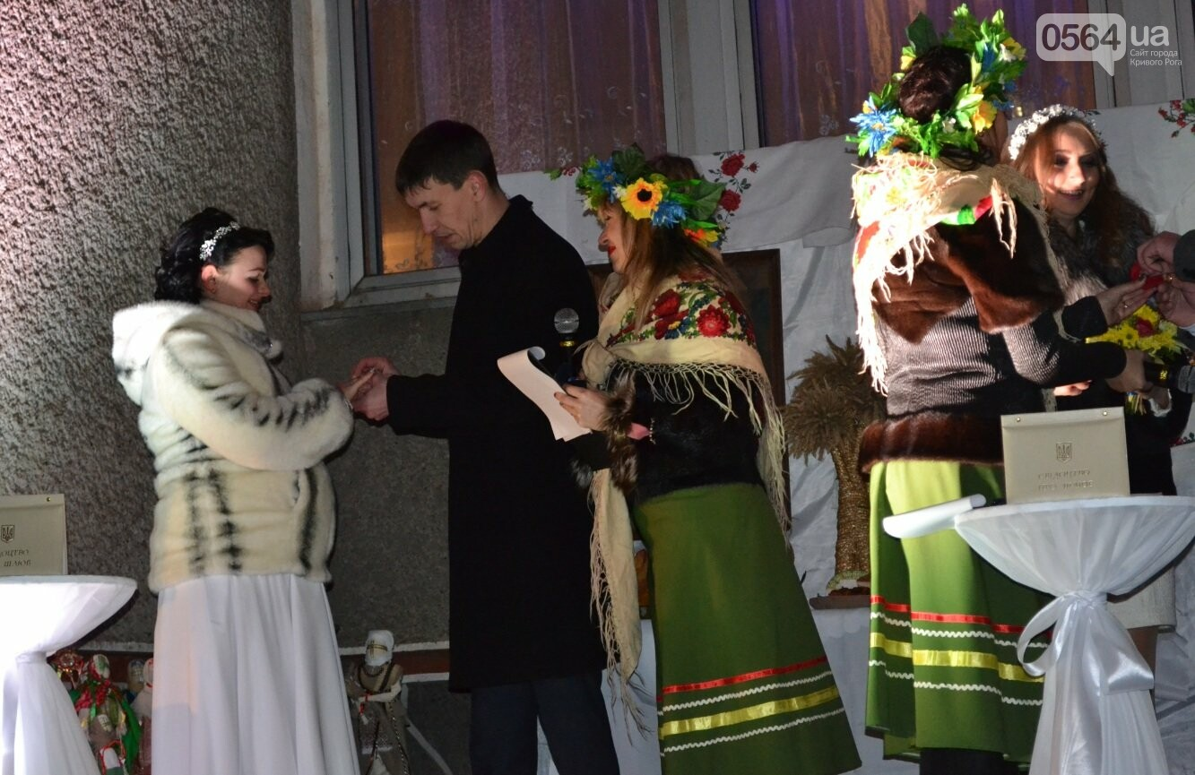 В Кривом Роге впервые провели бракосочетания в ночь под Старый Новый год с Меланкой и щедривками (ФОТО, ВИДЕО), фото-20