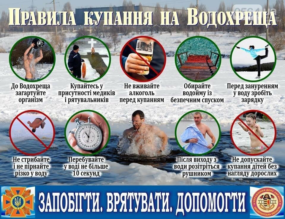 Памятка для криворожан: Девять правил купания в проруби на Крещение (ИНФОГРАФИКА), фото-1