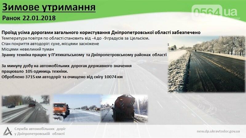 САД: На Днепропетровщине дороги для проезда открыты, трассы расчищаются, фото-1