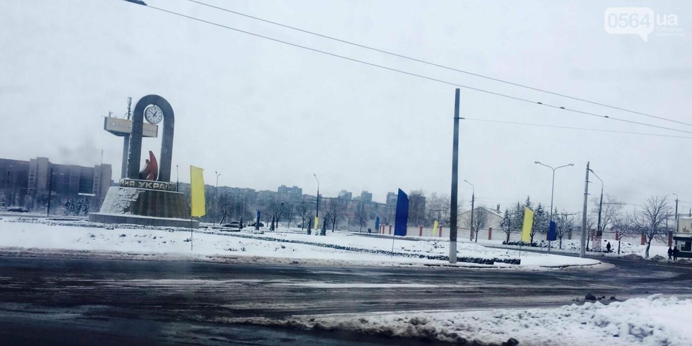 К вековому юбилею Украинской независимости Кривой Рог украсили флагами национальных цветов, фото-2