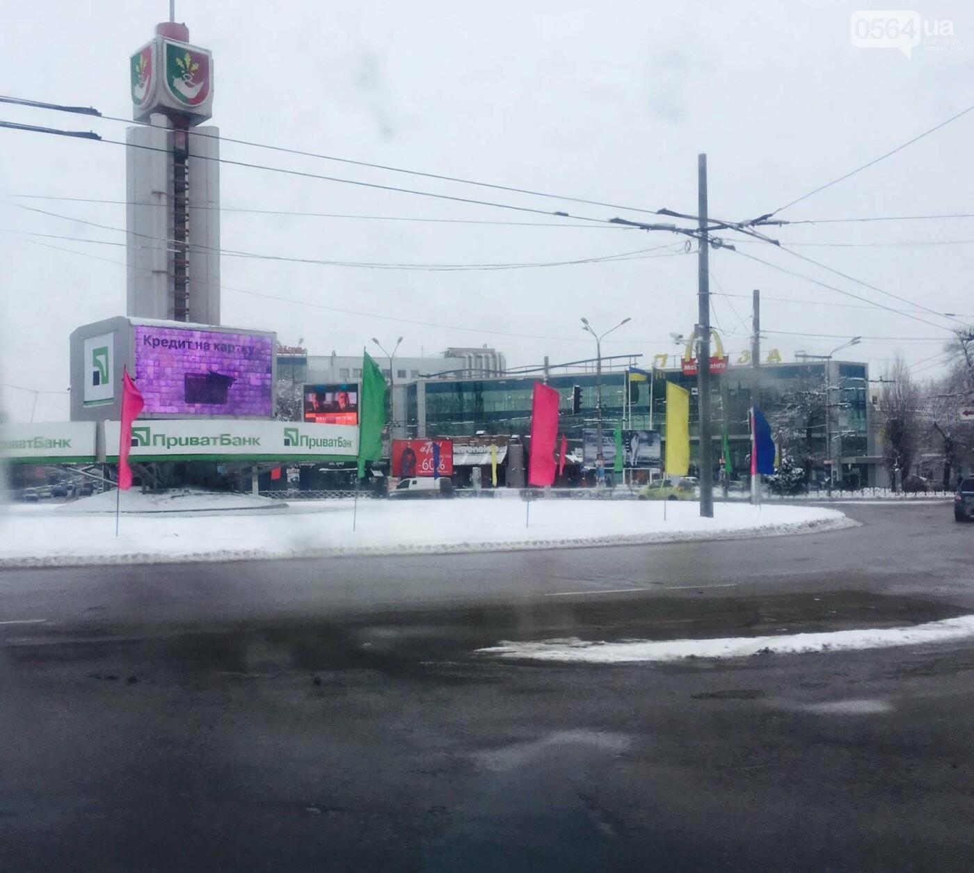 К вековому юбилею Украинской независимости Кривой Рог украсили флагами национальных цветов, фото-3