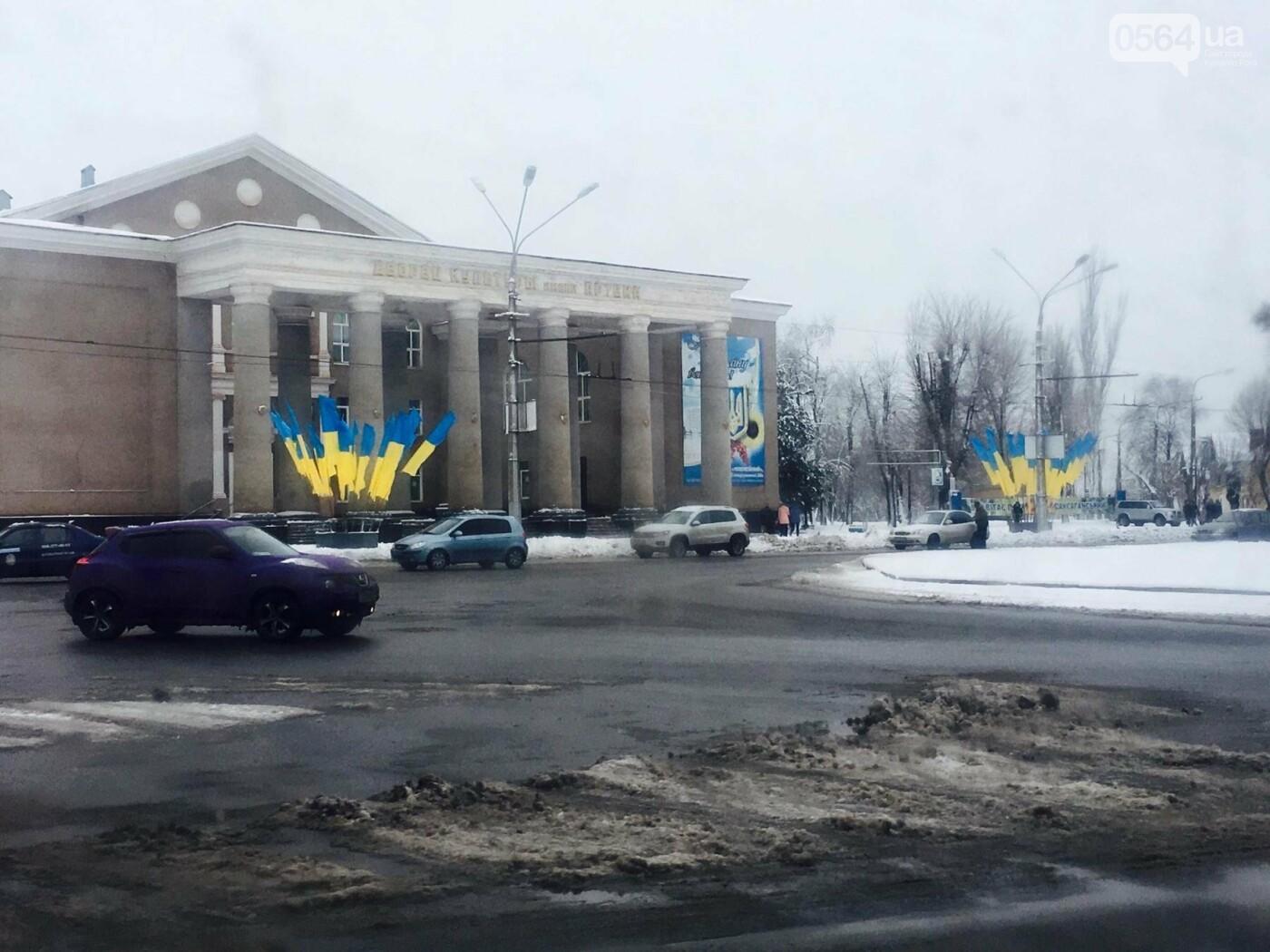 К вековому юбилею Украинской независимости Кривой Рог украсили флагами национальных цветов, фото-8