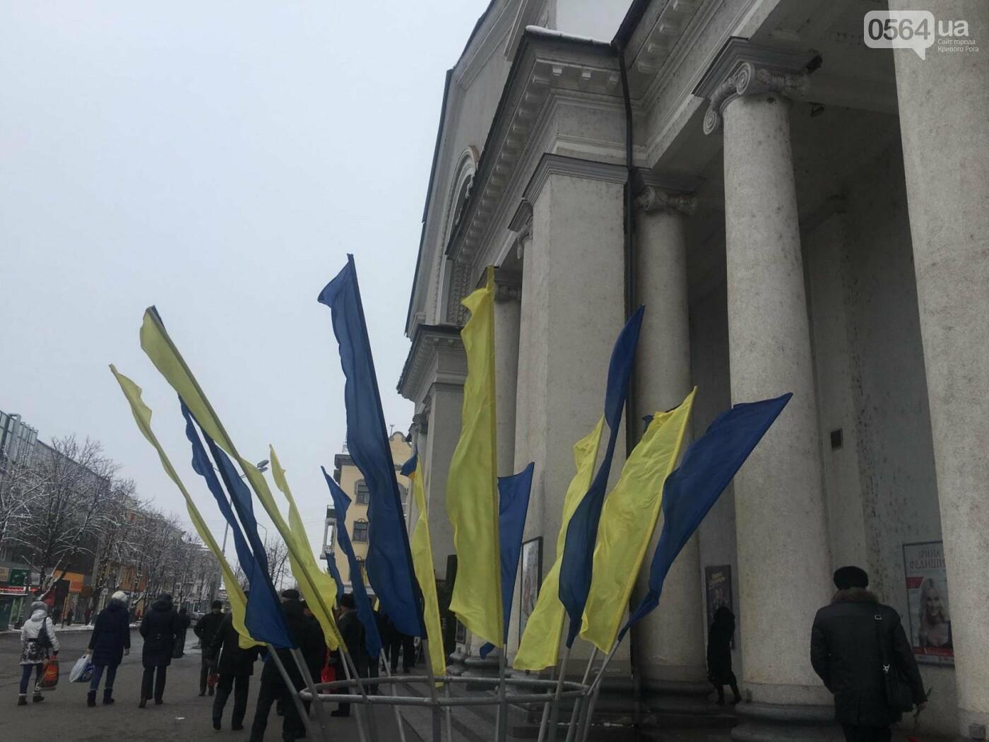 К вековому юбилею Украинской независимости Кривой Рог украсили флагами национальных цветов, фото-1
