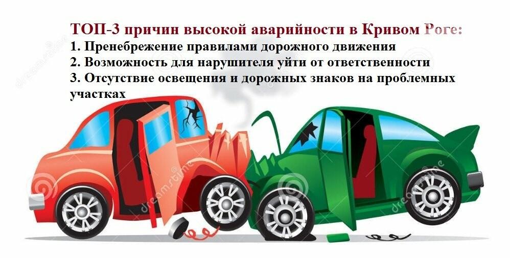 Голос города: ТОП-3 причин высокой аварийности на дорогах в Кривом Роге, фото-1