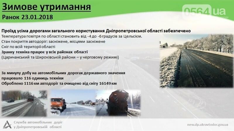 САД: На Днепропетровщине дороги открыты, техника работает, фото-1