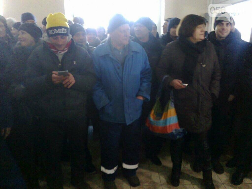 В Кривом Роге сотрудники КПВС митингуют, опасаясь, что город останется без воды  (ФОТО, ВИДЕО), фото-1