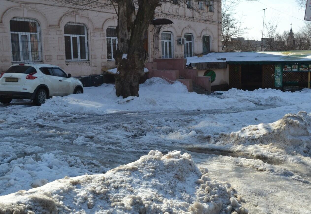 Внимание, гололед: В Кривом Роге проезжая часть для пешеходов безопаснее, чем тротуары (ФОТО), фото-8