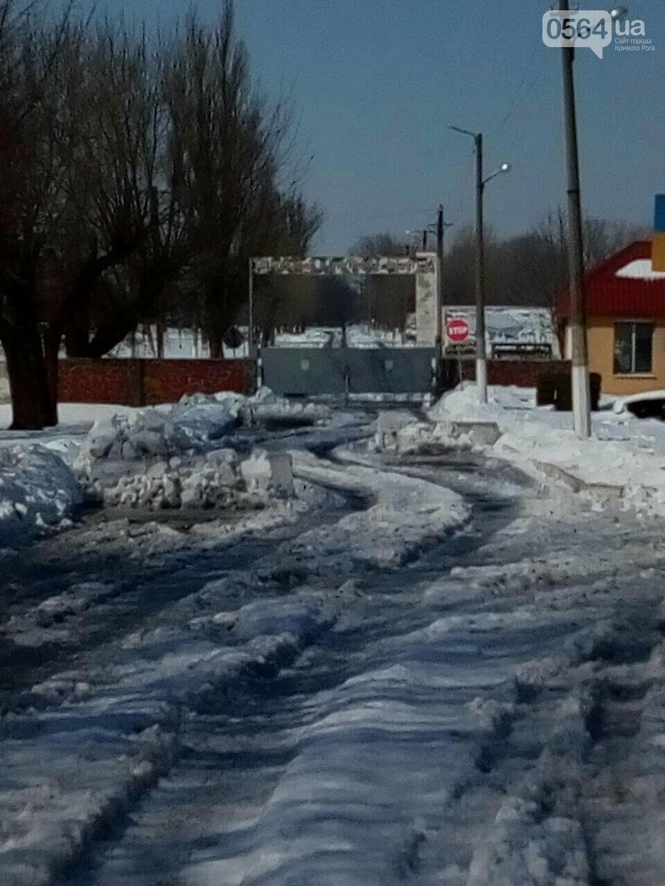 Внимание, гололед: В Кривом Роге проезжая часть для пешеходов безопаснее, чем тротуары (ФОТО), фото-19