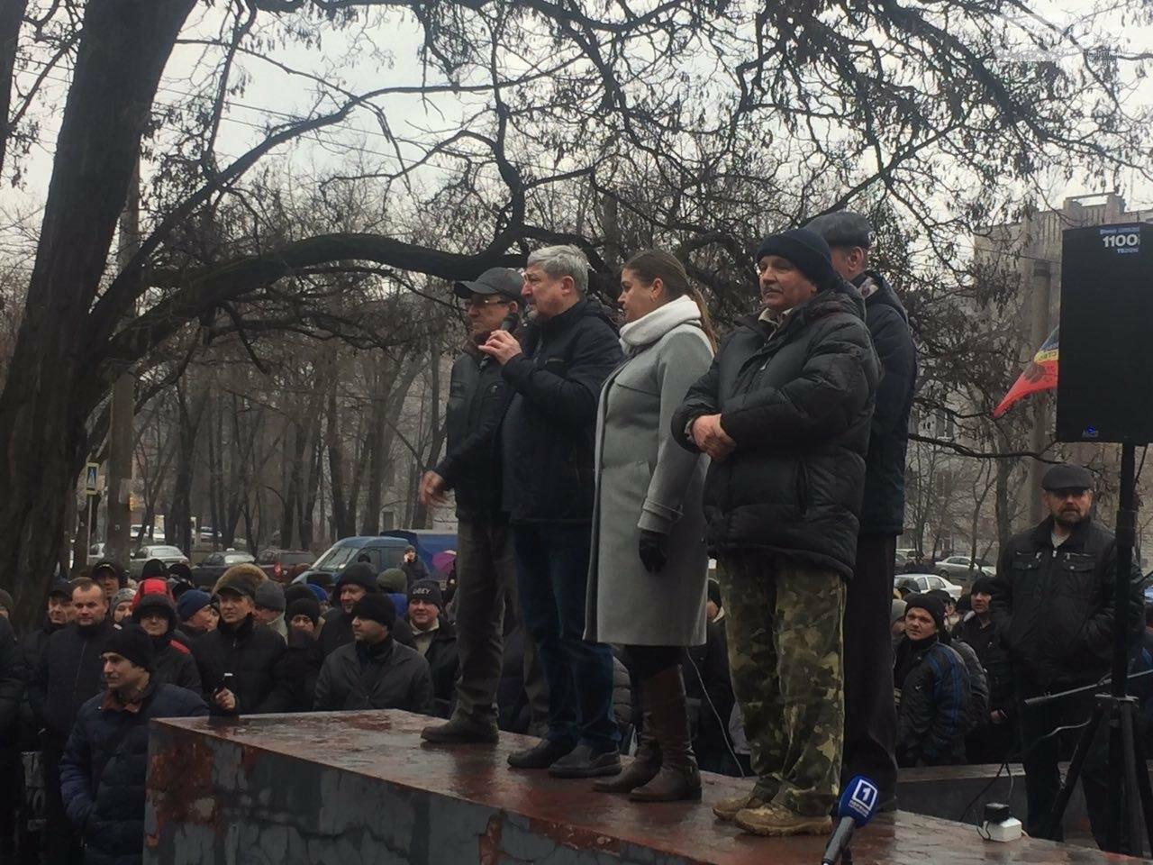В Кривом Роге сотни работников промышленного гиганта вышли на митинг (ФОТО), фото-8