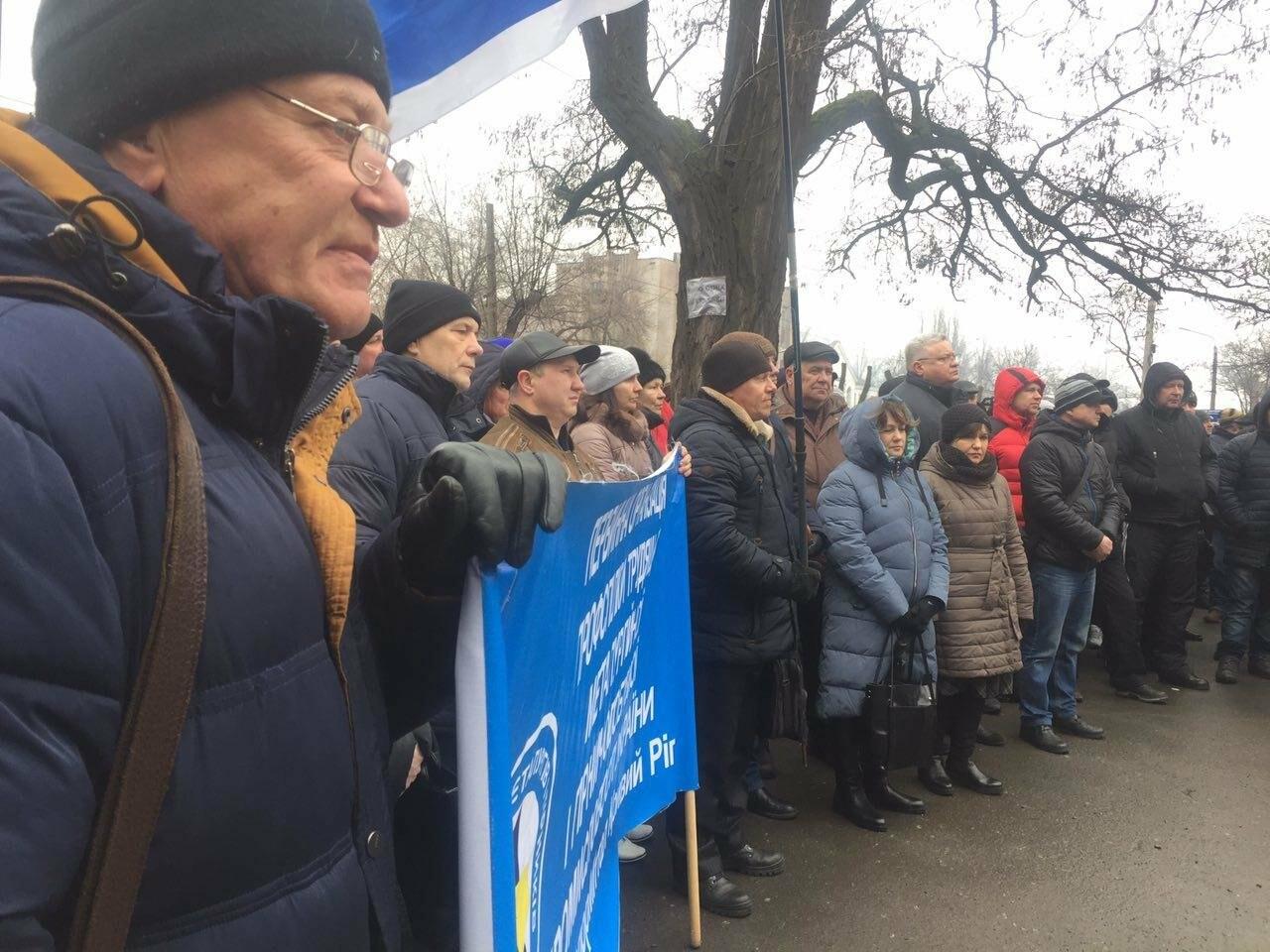 В Кривом Роге сотни работников промышленного гиганта вышли на митинг (ФОТО), фото-7