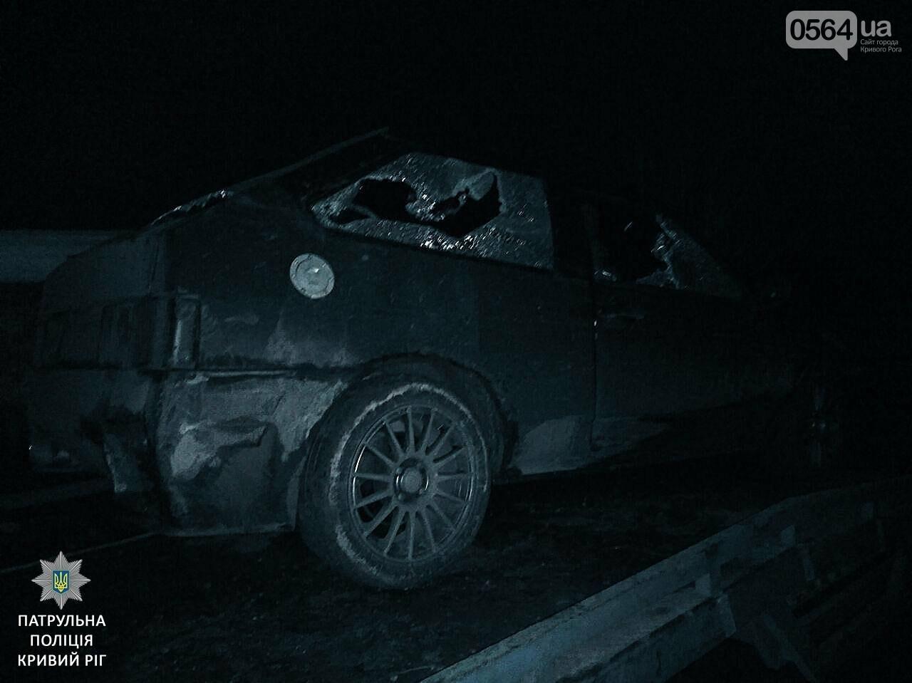 Криворожские патрульные задержали водителя с пистолетом, пытавшегося скрыться на машине и пешком (ФОТО), фото-2