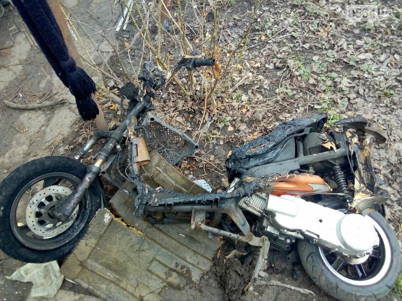 В Кривом Роге сгорел скутер, хранившийся в сарае (ФОТО), фото-3