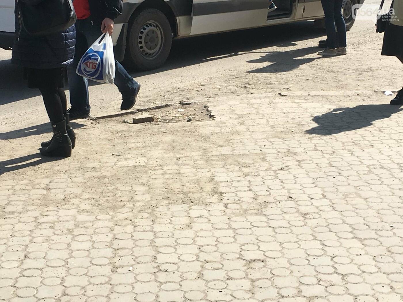Криворожская правозащитница потребовала отремонтировать остановку так же быстро, как и дорожки перед райисполкомом (ФОТО), фото-5