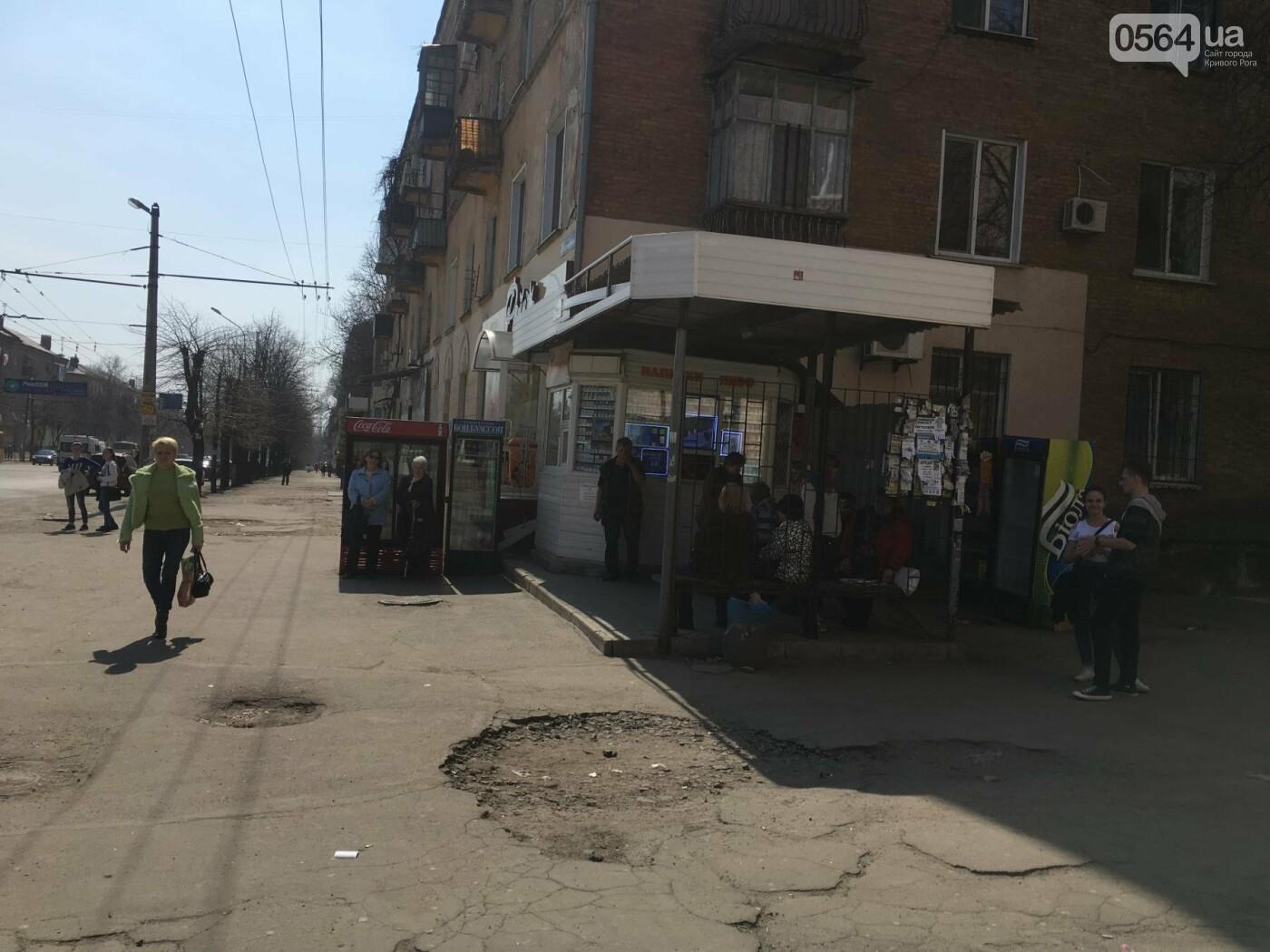 Криворожская правозащитница потребовала отремонтировать остановку так же быстро, как и дорожки перед райисполкомом (ФОТО), фото-4
