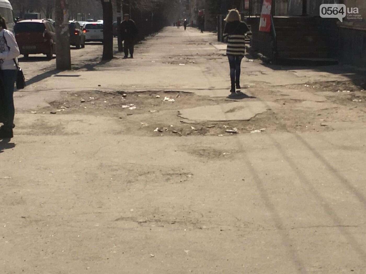 Криворожская правозащитница потребовала отремонтировать остановку так же быстро, как и дорожки перед райисполкомом (ФОТО), фото-1