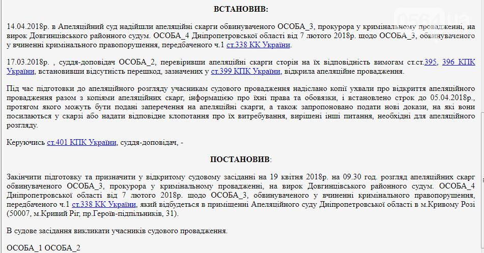 В Кривом Роге Апелляционный суд рассматривает жалобу мужчины, осужденного за надругательство над Флагом Украины , фото-2
