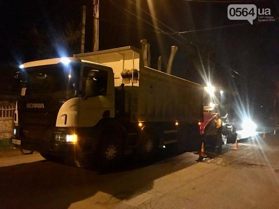 В Кривом Роге ремонтируют дороги и днем, и ночью (ФОТО), фото-17
