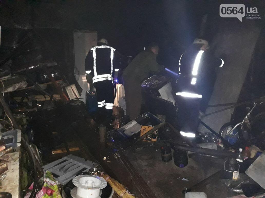 В Военном городке Кривого Рога огнем уничтожены сарай и 4 гаража (ФОТО), фото-1