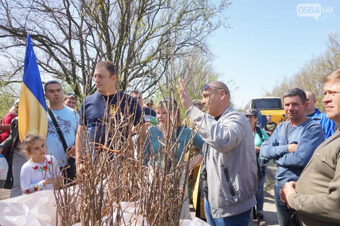 Как криворожане высаживали на Хортице дубраву в память о погибших Героях (ФОТО, ВИДЕО), фото-70