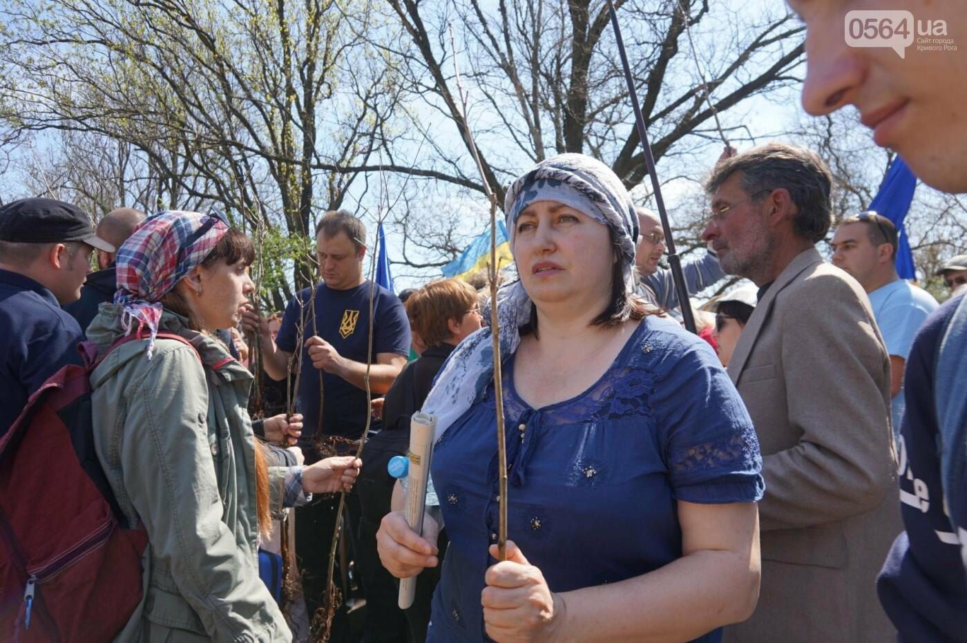 Как криворожане высаживали на Хортице дубраву в память о погибших Героях (ФОТО, ВИДЕО), фото-48
