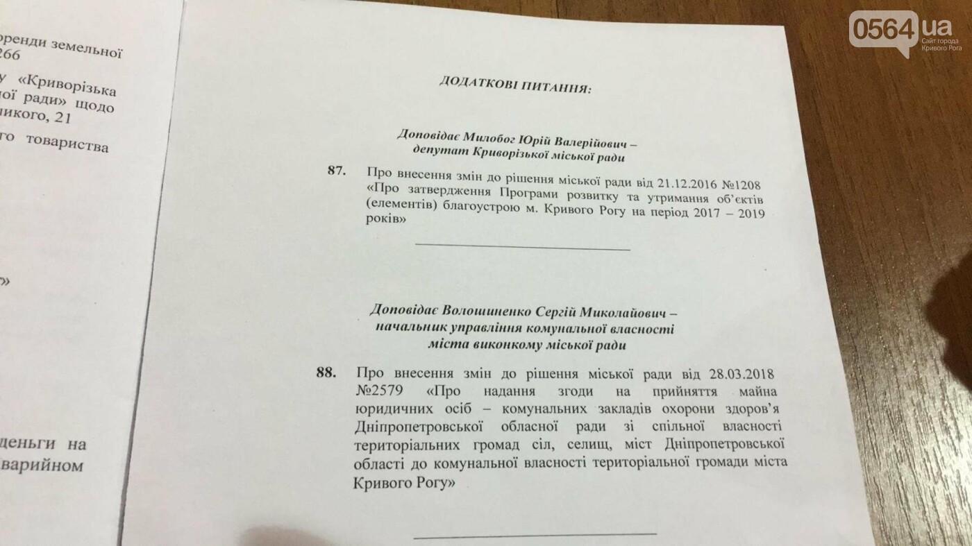 """""""Промэрское"""" большинство в Криворожском горсовете утвердило повестку дня сессии без предложений депутатов не из большинства (ФОТО), фото-1"""