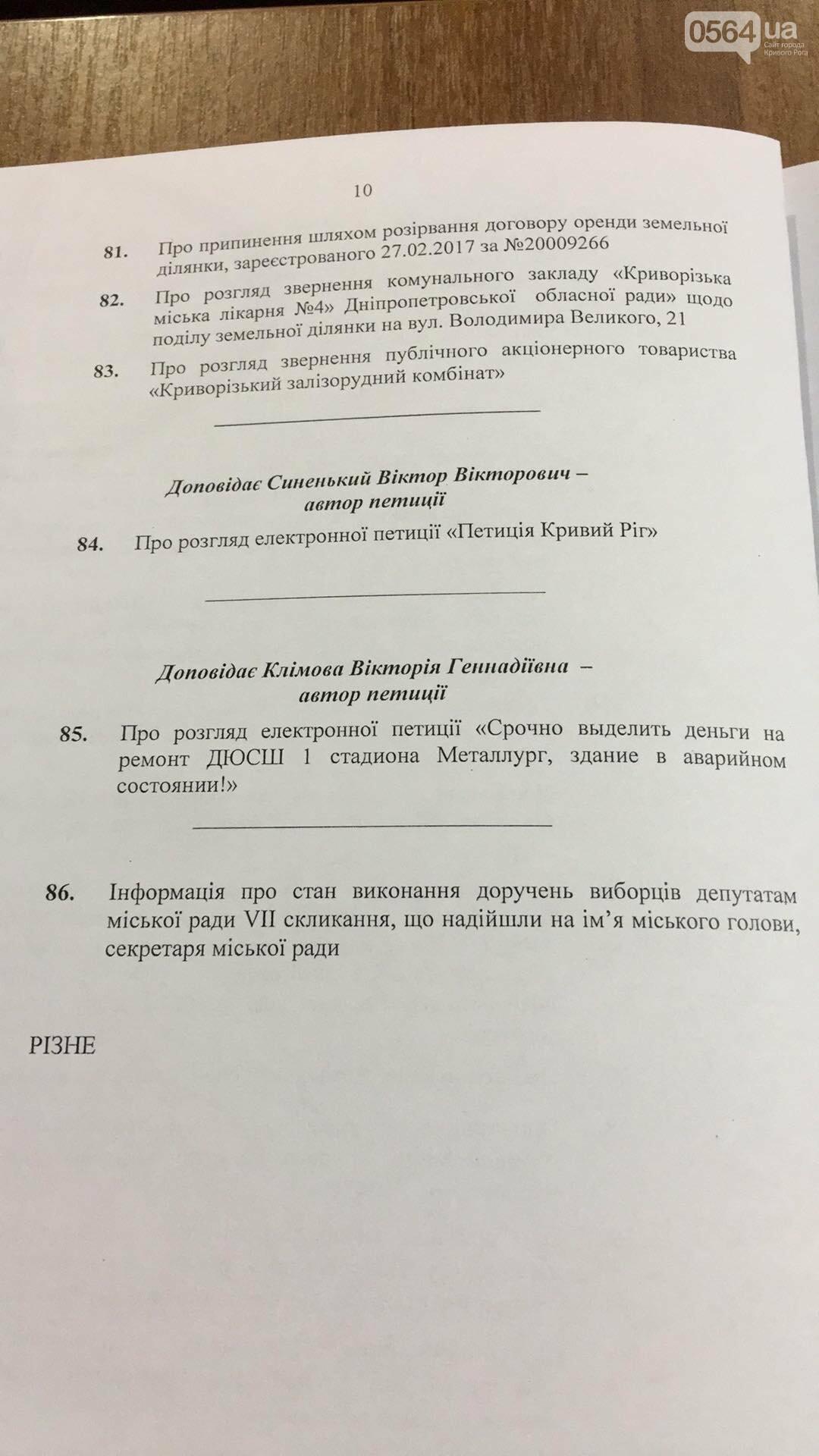 """""""Промэрское"""" большинство в Криворожском горсовете утвердило повестку дня сессии без предложений депутатов не из большинства (ФОТО), фото-2"""