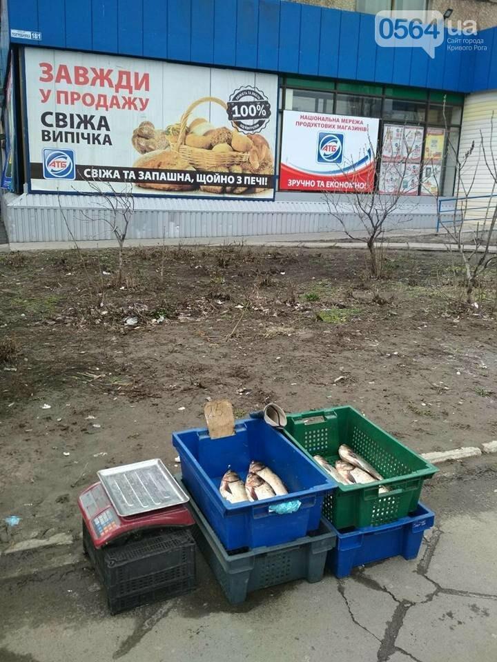 В Кривом Роге пытаются убрать с улиц торговцев колбасой и рыбой (ФОТО), фото-1
