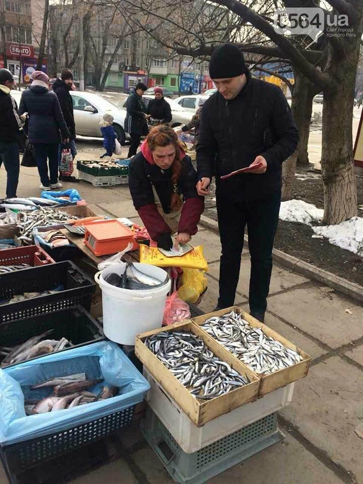 В Кривом Роге пытаются убрать с улиц торговцев колбасой и рыбой (ФОТО), фото-6