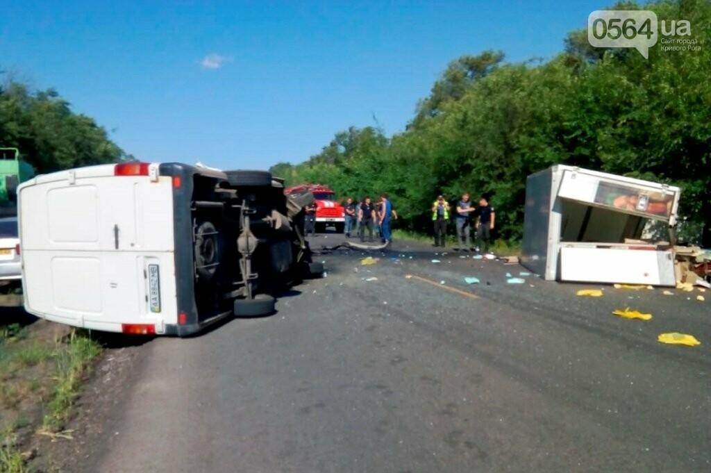 На трассе Днепр-Кривой Рог столкнулись два микроавтобуса. Пострадали трое, - ФОТО, фото-1