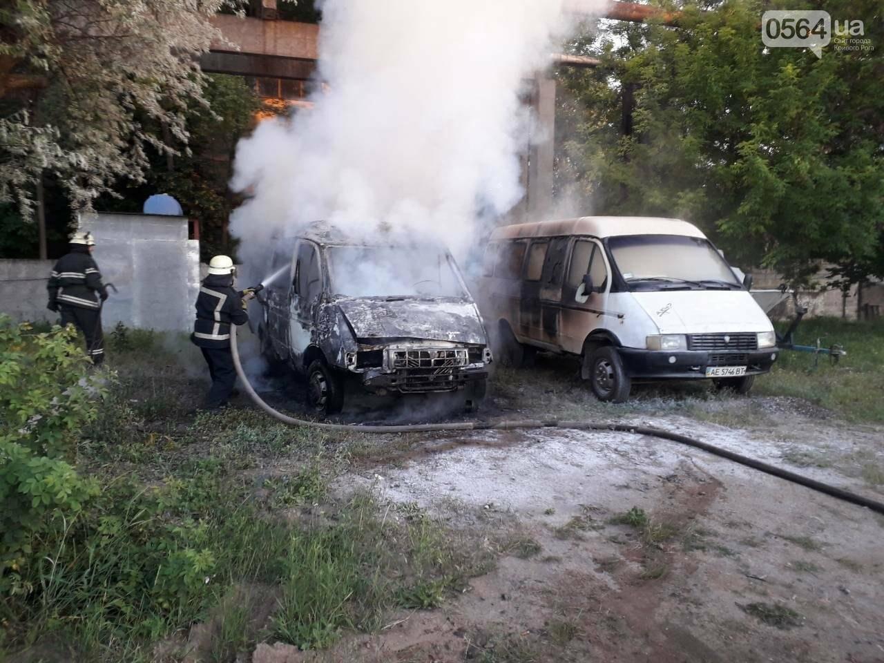 В Кривом Роге вечером сгорели два микроавтобуса, - ФОТО, фото-1