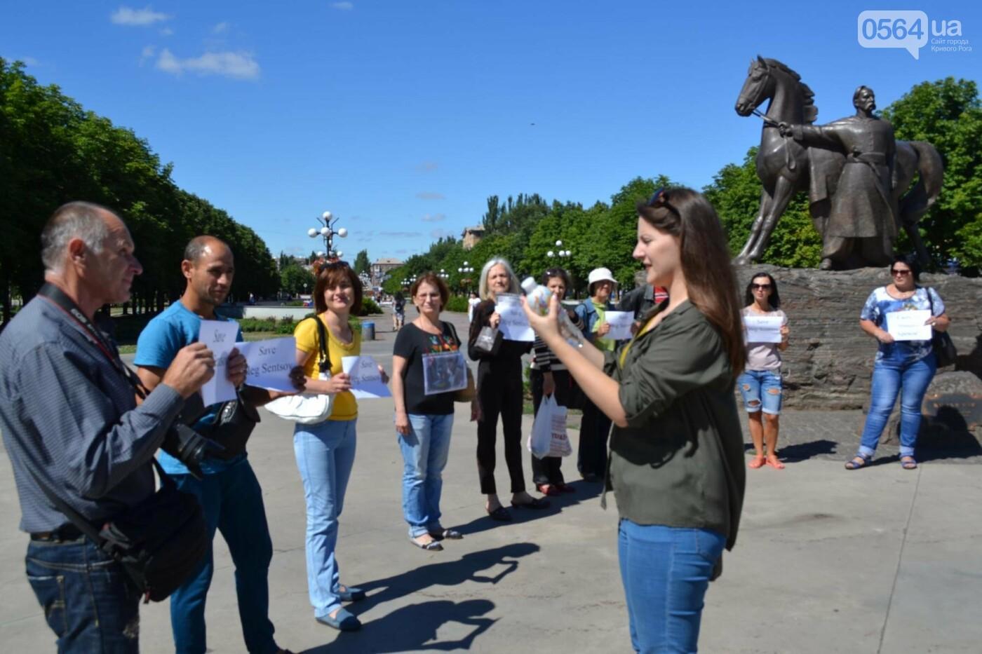 Криворожане вышли на всемирную акцию FreeSentsov, - ФОТО, ВИДЕО, фото-10