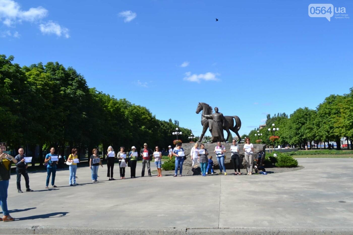 Криворожане вышли на всемирную акцию FreeSentsov, - ФОТО, ВИДЕО, фото-12