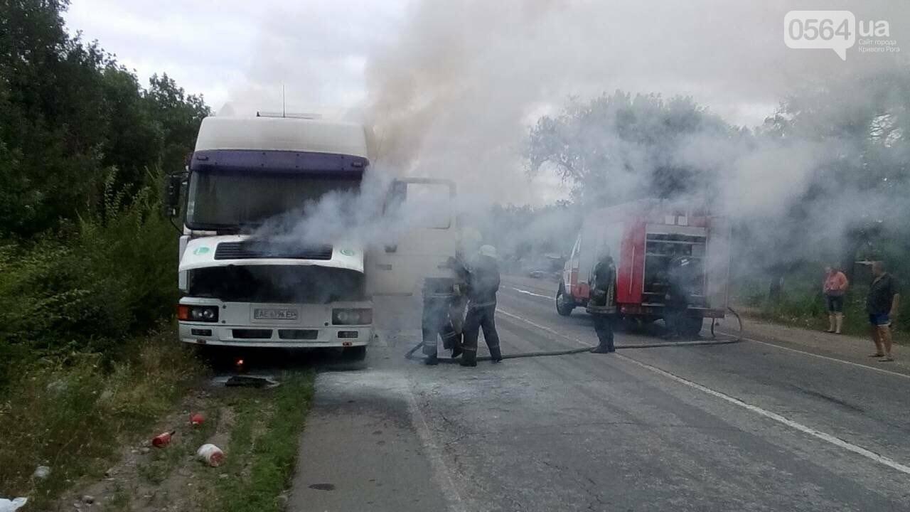 В Криворожском районе на временной стоянке сгорела фура, - ФОТО, фото-3