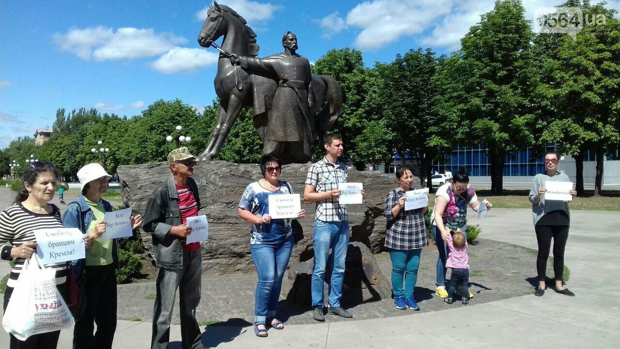 Криворожане вышли на всемирную акцию FreeSentsov, - ФОТО, ВИДЕО, фото-6