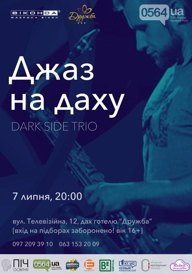 Криворожан приглашают послушать джаз Dark Side Trio на крыше отеля - ФОТО, фото-1
