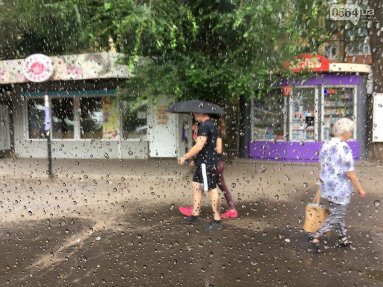 Маршрут дождя: В Кривом Роге в одних районах льет ливень, в других ярко светит солнце, - ФОТО, фото-9