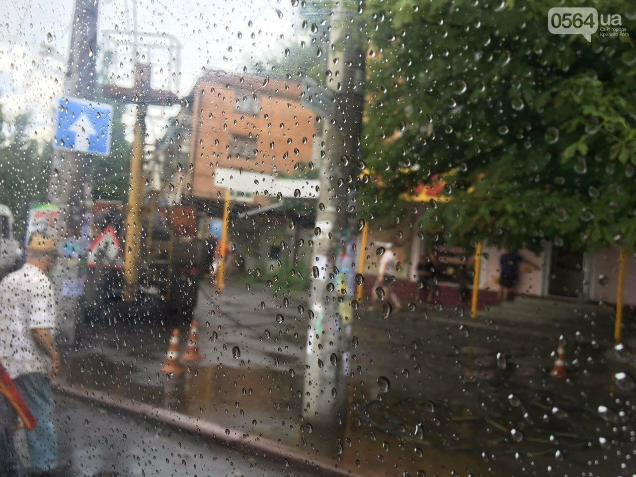 Маршрут дождя: В Кривом Роге в одних районах льет ливень, в других ярко светит солнце, - ФОТО, фото-14