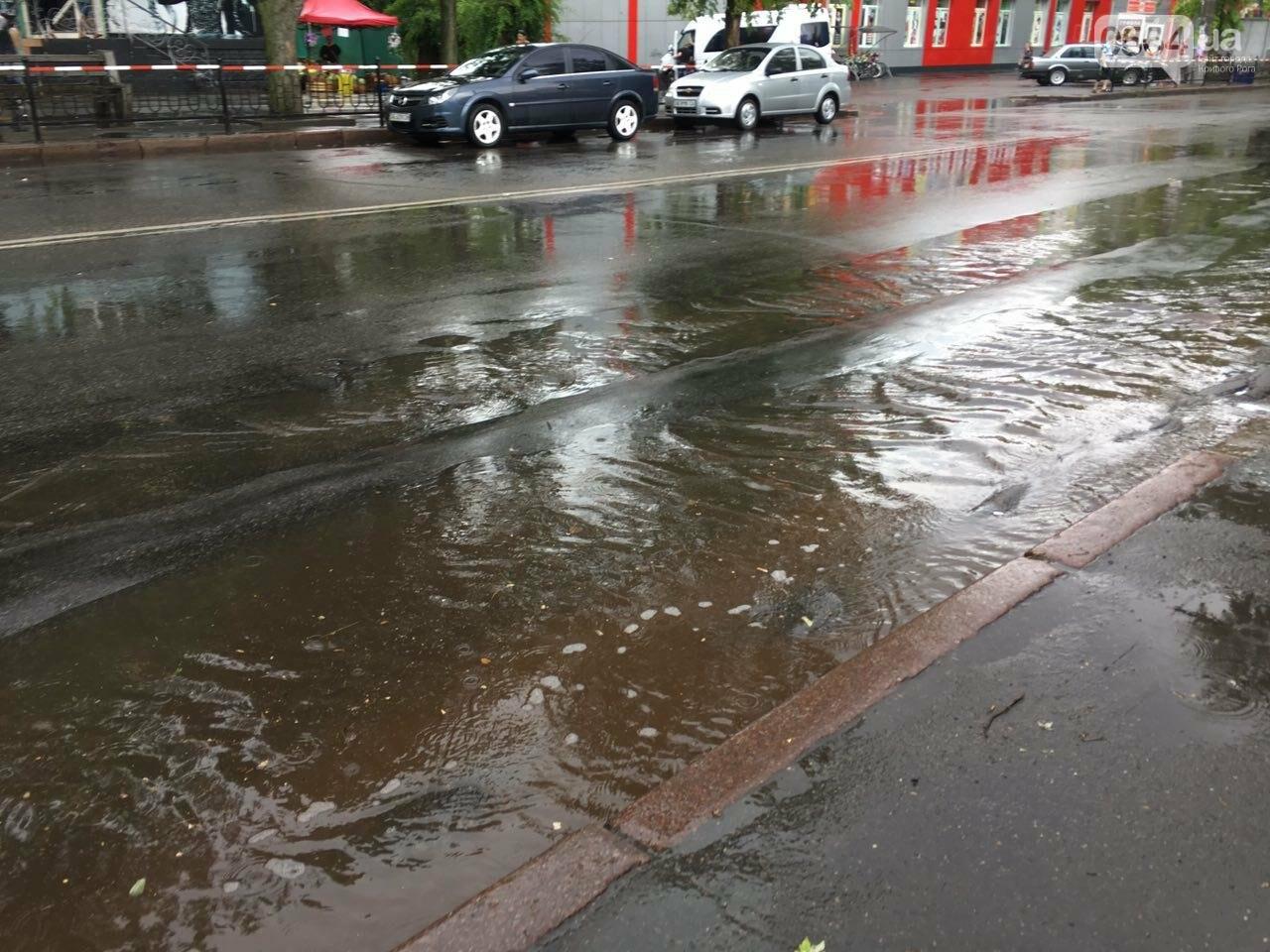 Маршрут дождя: В Кривом Роге в одних районах льет ливень, в других ярко светит солнце, - ФОТО, фото-16