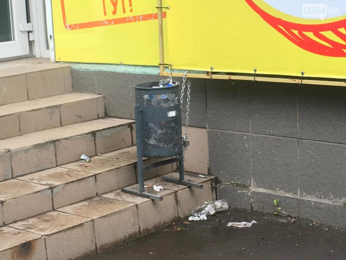 """""""Ждут штраф?"""": В Кривом Роге бизнесмены не спешат устанавливать урны возле своих магазинов, - ФОТО, фото-16"""